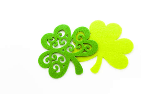 St. Patricks Day doilies on white background.