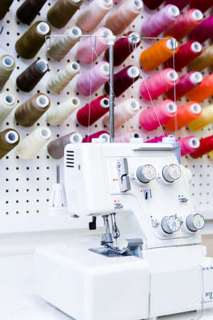 nad made: Sewing machine in tailor shop.