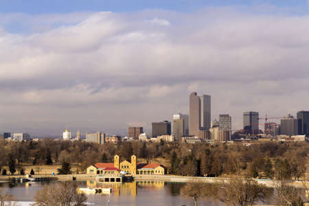 Denver skyline during the day in the Winter. Stock Photo - 17956611