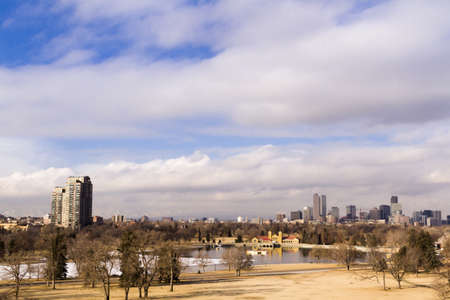 Denver skyline during the day in the Winter. Stock Photo - 17956609