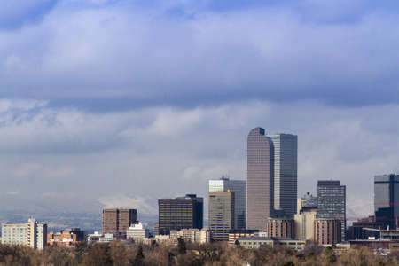Denver skyline during the day in the Winter. Stock Photo - 17956613