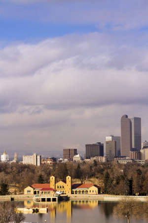 Denver skyline during the day in the Winter. Stock Photo - 17956608