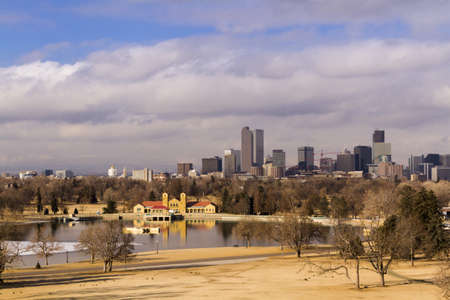Denver skyline during the day in the Winter. Stock Photo - 17956614