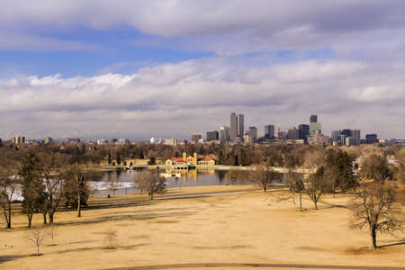 Denver skyline during the day in the Winter. Stock Photo - 17956619