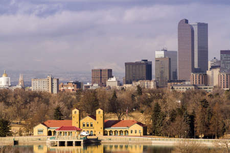 Denver skyline during the day in the Winter. Stock Photo - 17956618