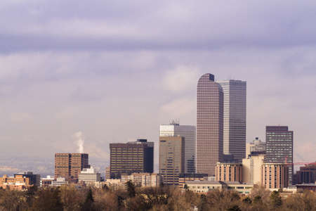 Denver skyline during the day in the Winter. photo