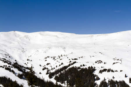Skiing at Loveland ski resort, Colorado. photo