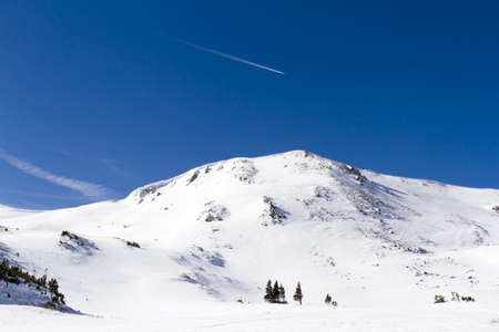 eisenhower: Skiing at Loveland ski resort, Colorado.