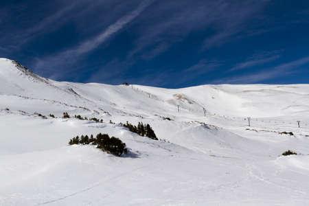 Skiing at Loveland ski resort, Colorado. photo