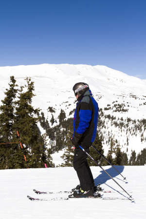eisenhower: 2012-2013 skiing season at Loveland ski resort, Colorado. Editorial