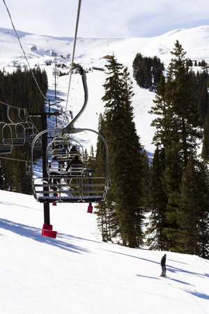 loveland pass: 2012-2013 skiing season at Loveland ski resort, Colorado. Editorial
