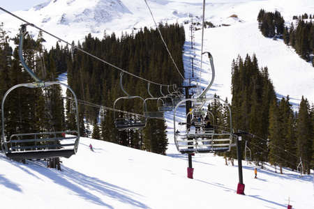 2012-2013 skiing season at Loveland ski resort, Colorado.