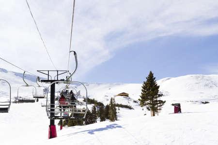loveland: 2012-2013 skiing season at Loveland ski resort, Colorado. Editorial