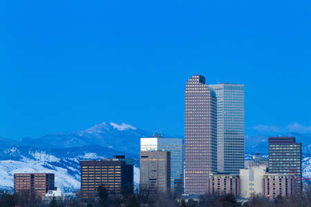 liquid state: A view of downtown Denver before sunrise.