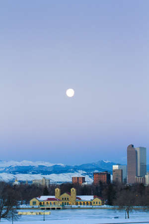 A view of downtown Denver before sunrise. Stock Photo - 18154911