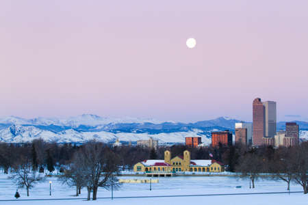 A view of downtown Denver before sunrise. Stock Photo - 18154881
