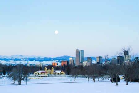 A view of downtown Denver before sunrise. Stock Photo - 18154842