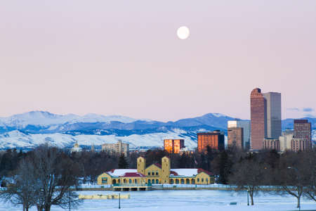 A view of downtown Denver before sunrise. Stock Photo - 18154835