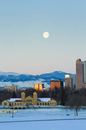 A view of downtown Denver before sunrise. Stock Photo - 18154843