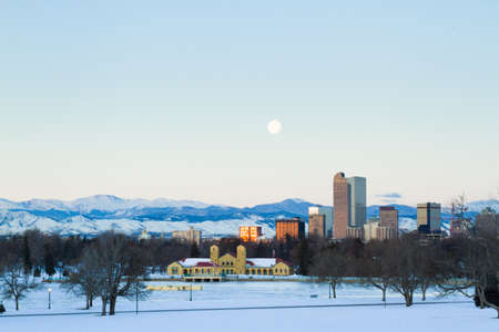 A view of downtown Denver before sunrise. Stock Photo - 18154837