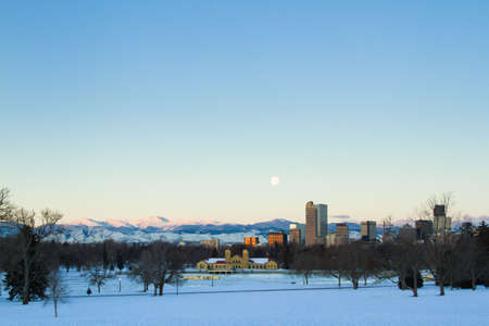 A view of downtown Denver before sunrise. Stock Photo - 18154879