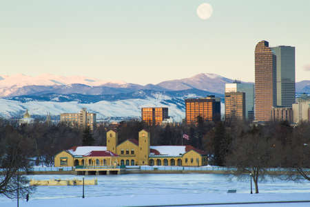 A view of downtown Denver before sunrise. Stock Photo - 18154873