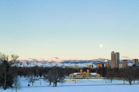 A view of downtown Denver before sunrise. Stock Photo - 18154845