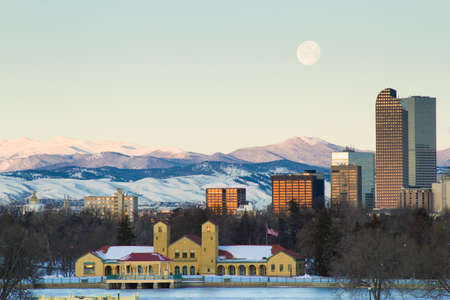 A view of downtown Denver before sunrise. Stock Photo - 18154844