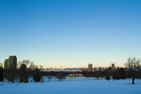 A view of downtown Denver before sunrise. Stock Photo - 18154542