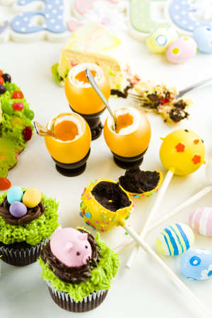 patty cake: Easter sugar fest with variety of gourmet chocolate good.