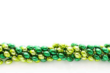 st patrics: Green beads for St Patrics day celebration.