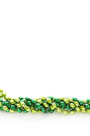 patrics: Green beads for St Patrics day celebration.