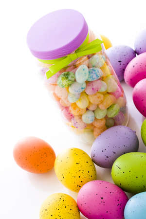 Assorted jelly beans in pastel colors with darker spots. Stock Photo - 18159464