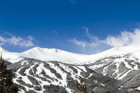 western slope: Breckenridge ski area in the Winter.