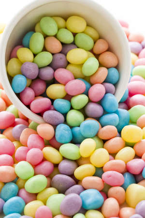 pastel color jelly beans for Easter. photo