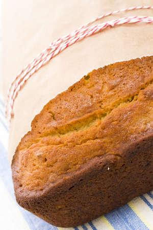banana bread: Homemade banana bread from classic recipe. Stock Photo