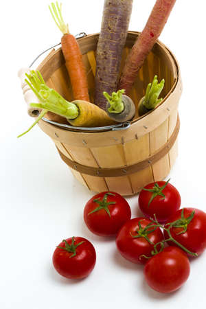 etymology: Organic rainbow carrots and tomatoes from the local farm.