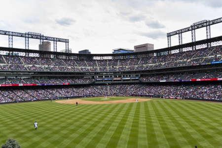 colorado rockies: April 21, 2013 baseball game Colorado Rockies vs Arizona Diamondbacks at Coors Field.