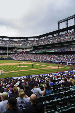 21 de abril 2013 de b�isbol del juego Rockies de Colorado vs Arizona Diamondbacks en el Coors Field.