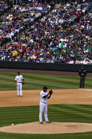 21 de abril 2013 de b?isbol del juego Rockies de Colorado vs Arizona Diamondbacks en el Coors Field.
