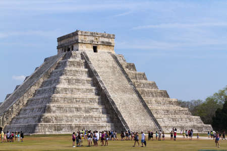 distanation: Mayan Pyramid Chichen Itza, Yucatan Peninsula, Mexico. Editorial
