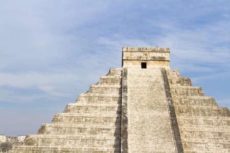 distanation: Mayan Pyramid Chichen Itza, Yucatan Peninsula, Mexico. Stock Photo