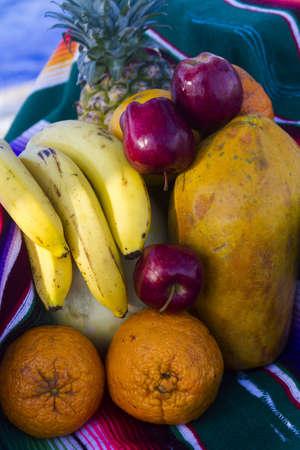 arrangment: Tropical fruits in arrangment.