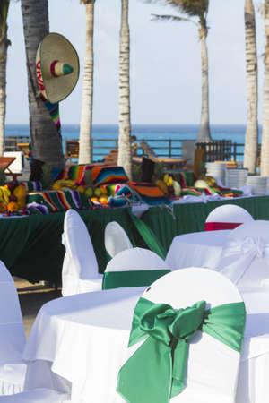 Vacation resort decorated for big distanation wedding. photo