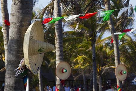 distanation: Vacation resort decorated for big distanation wedding.