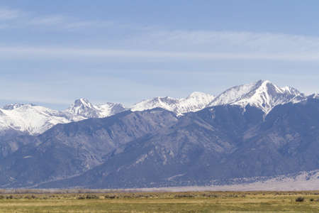 colorado landscape: Spring on midwestern farm near the Great Sand Dunes.