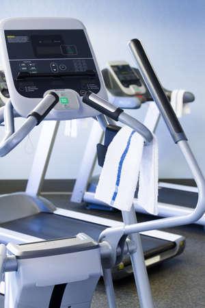 Elliptical machine in a small gym