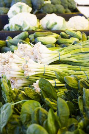 Fresh produce at the local Farmers Market. Banco de Imagens