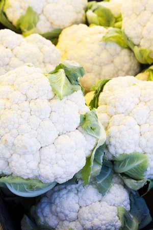 caulis: Fresh produce at the local Farmers Market. Stock Photo