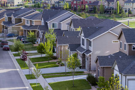 Typical american suburban development. Stock Photo - 19652469